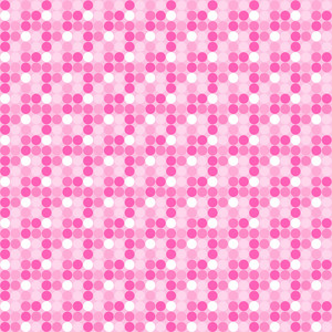 Princess Pink And White Polka Dots Pattern