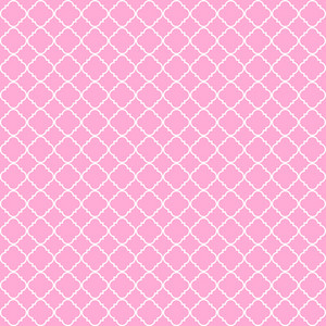 Princess Pink And White Quatrefoil Pattern