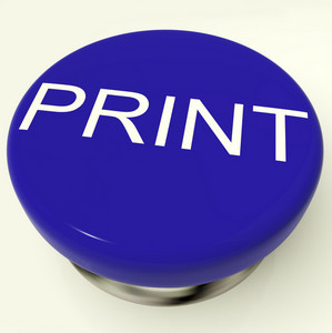 Print Button As Symbol For Printing Or Printer