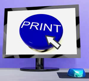 Print Button On Computer For Web Printout