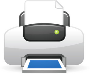 Printer Blue Lite Computer Icon