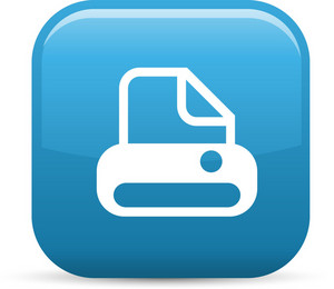 Printer Elements Glossy Icon