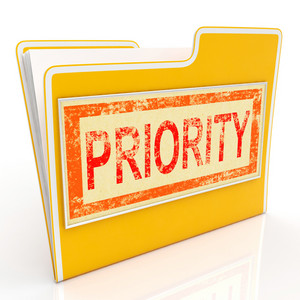 Priority File Shows Deadline Rush Immediate Delivery