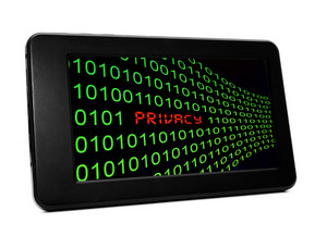 Privacy Text On Pc Tablet