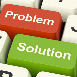 Problem And Solution Computer Keys Showing Assistance And Solving Online