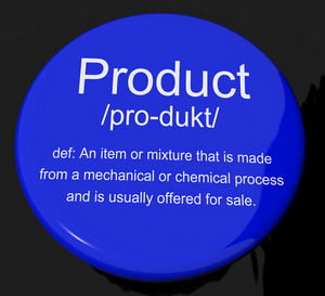 Product Definition Button Showing Goods For Sale At A Store
