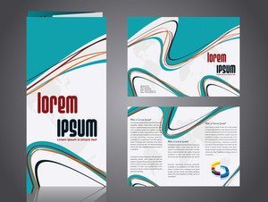 Professional Business Catalog Template Or Corporate 3 Fold Brochure Design .