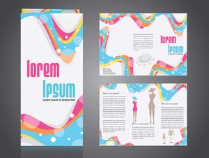 Professional Business Catalog Template Or Corporate 3 Fold Brochure Design .