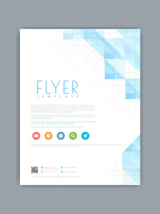 Professional business flyer brochure or template with creative abstract or hi tech design.