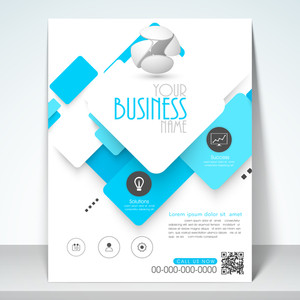 Professional business flyer template or banner design.