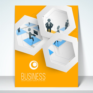 Professional business flyer template or brochure design.