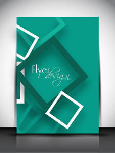 Professional Business Flyer Template Or Corporate Banner With Abstract Pattern For Publishing
