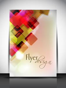 Professional Business Flyer Template Or Corporate Banner With Colorful Abstract Design For Publishing