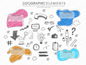 Professional Business Infographic layout with various statistical elements created on white background.