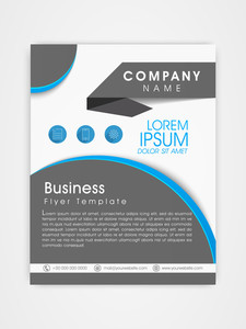 Professional business template flyer or corporate brochure for your company.