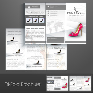 Professional Business Three Fold Flyer Template