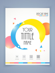 Professional flyer template or brochure design for business report.