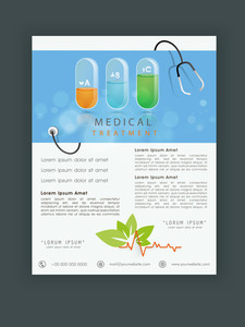 Professional Health and Medical flyer banner or template design.