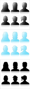 Profile Icons Shapes Vectors