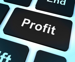 Profit Computer Key Showing Earnings And Investment