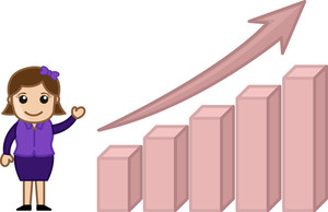 Profit Increased Stats Graph - Cartoon Bussiness Vector Illustrations