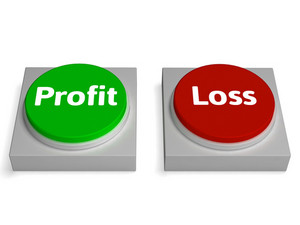 Profit Loss Buttons Show Revenue Or Deficit