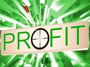 Profit Means Earning Revenue And Business Growth