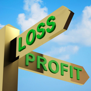 Profit Or Loss Directions On A Signpost