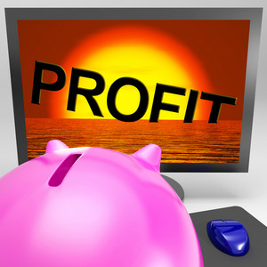 Profit Sinking On Monitor Shows Unprofitable Trading