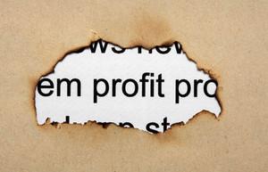 Profit Text On Paper Hole