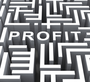 Profit Word Shows Financial Revenue Or Earnings