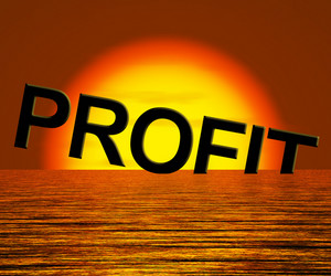 Profit Word Sinking As Symbol For Unprofitable Business And Failure