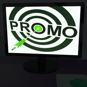 Promo On Monitor Shows Offers
