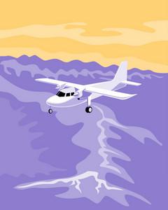 Propeller Airplane Flying