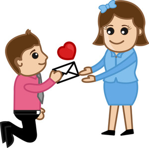 Proposing A Girl With A Love Letter