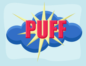 Puff - Comic Cartoon Background Vector