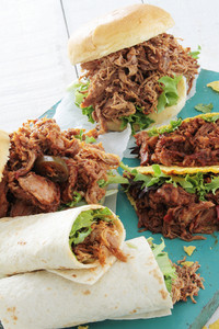Pulled Pork Taco Sandwiches Wraps
