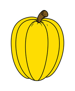 Pumpkin For Jack O' Lantern - Halloween Vector Illustration