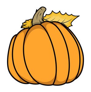 Pumpkin Vector Cartoon Illustration