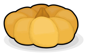 Pumpkin Vegetable Shape Element