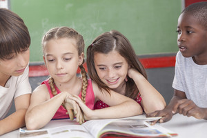Pupils reading togethers