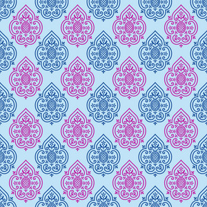 Purple And Blue Decorative Pattern On Frozen Inspired Paper