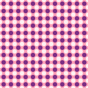 Purple And White Polka Dots Pattern On A Pink Background