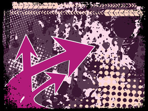 Purple Arrowhead On Texture Background