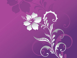 Purple Background With Floral