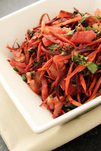Purple Black Carrot And Mat Kimchi Salad