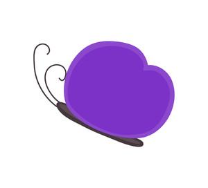 Purple Butterfly Design