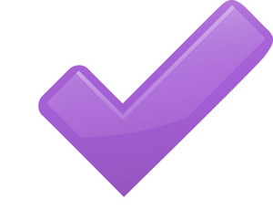 Purple Check Mark