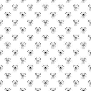 Purple Dog Pattern On A White Background