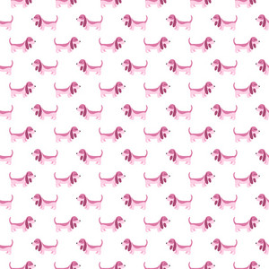 Purple Dog Pattern